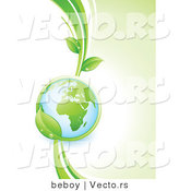 Vector of Globe in the Grasp of a Green Vine with African Continent FeaturedGlobe in the Grasp of a Green Vine with African Continent Featured by Beboy