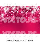 Vector of Gradient Pink Heart Background with Text Space by Dero