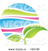 Vector of Green Plant Leaf in Spring by Cidepix