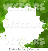 Vector of Green Vines Border Frame with Blank Copyspace Textarea by Elaineitalia