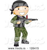 Vector of Happy Boy Playing Paintball by BNP Design Studio