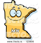 Vector of Happy Cartoon Yellow Minnesota State Character by Cory Thoman