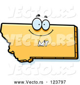 Vector of Happy Cartoon Yellow Montana State Character by Cory Thoman