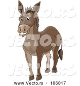 Vector of Happy Donkey by Graphics RF