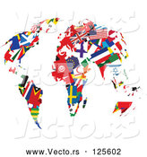 Vector of International Flag Continents by Prawny