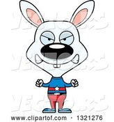 Vector of Mad Cartoon White Rabbit Super Hero by Cory Thoman