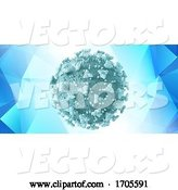Vector of Medical Banner Design with Halfone Dot Covid 19 Virus Cell by KJ Pargeter