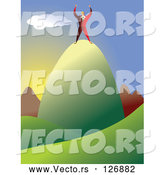 Vector of Mountain Top by Prawny
