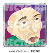 Vector of Old Bald Guy by AtStockIllustration