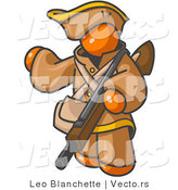 Vector of Orange Guy Carrying a Rifle by Leo Blanchette