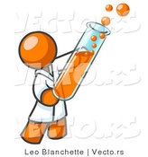 Vector of Orange Guy Scientist Holding a Test Tube by Leo Blanchette