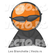 Vector of Orange Guy Spy Wearing Shades by Leo Blanchette