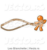 Vector of Orange Guy Struggling with Ropes by Leo Blanchette