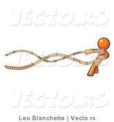 Vector of Orange Guy with a Rope Around His Waist by Leo Blanchette