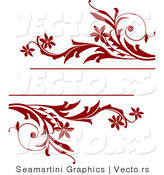 Vector of Red Vines Frame with Blank Copyspace by Vector Tradition SM