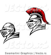 Vector of Roman Knights - One Is Red, the Other Is Black by Vector Tradition SM