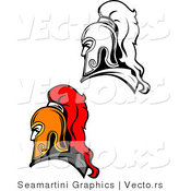 Vector of Roman Soldiers - Color and Line Drawing Versions by Vector Tradition SM