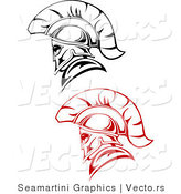 Vector of Roman Soldiers - Red and Black Version by Vector Tradition SM
