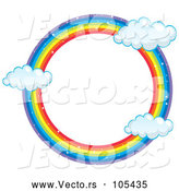 Vector of Round Rainbow Frame with Clouds by Graphics RF