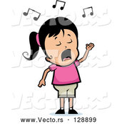 Vector of Singing Hispanic Girl Character by Cory Thoman