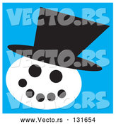 Vector of Snowman Wearing a Hat by Andy Nortnik