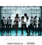 Vector of Team of International Business People by in an Airport near an Atlas by Dero