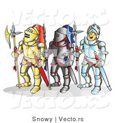 Vector of Three Knights by Snowy