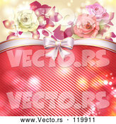 Vector of Valentines Day or Wedding Background with Roses and Hearts 4 by Merlinul