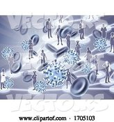 Vector of Virus Cells Viral Spread Pandemic People Concept by AtStockIllustration