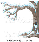 Vector of Winter Tree Flocked with Snow by Visekart
