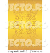 Vector of Yellow Floral Vines Background by Mayawizard101