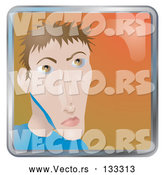 Vector of Young Skinny Guy by AtStockIllustration