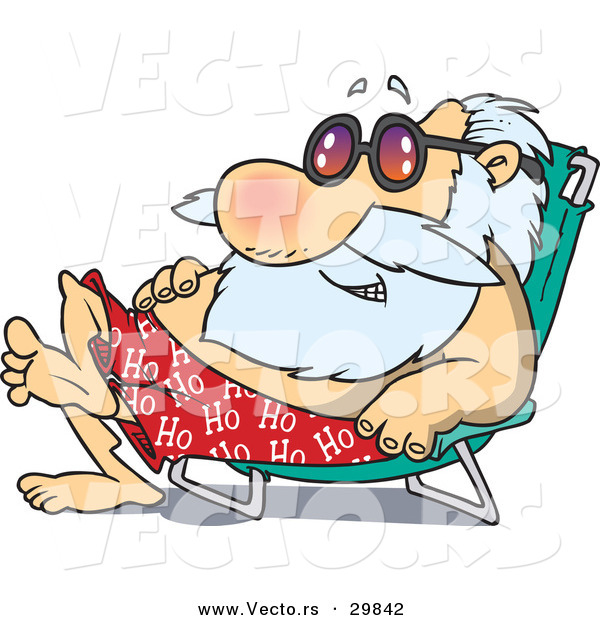 Cartoon vector of a happy santa sun bathing on a beach chair by cartoon vector of a happy santa sun bathing on a beach chair voltagebd Gallery
