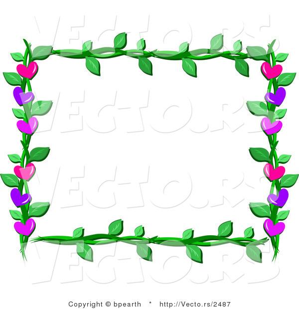 frame border design. Cartoon Vector Of Lover Hearts And Vines Frame Border Design K