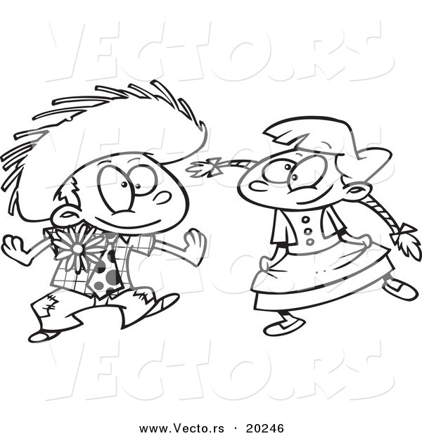 Vector Of A Cartoon Boy And Girl Dancing At Fiesta