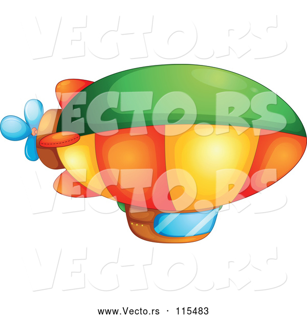 Vector of a Colorful Blimp