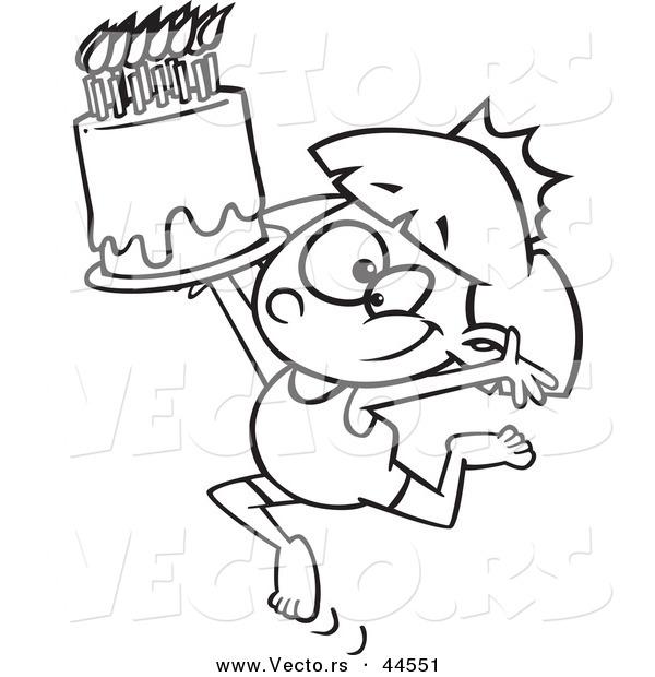 Vector of a Happy Cartoon Gymnastics Princess Girl with a Tiara and
