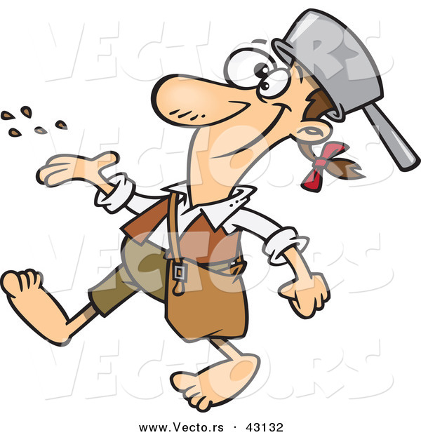 vector of a happy cartoon johnny appleseed character spreading rh vecto rs johnny appleseed clipart free johnny appleseed clip art apples