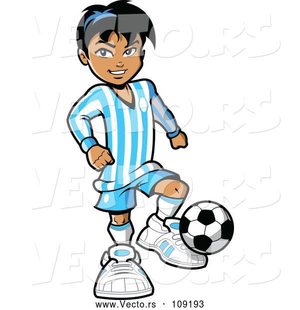 vector of a hispanic kid playing soccer by clip art mascots 109193 rh vecto rs hispanic heritage clipart hispanic heritage clipart