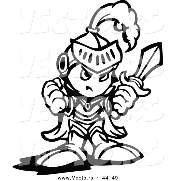 Vector of a Tough Cartoon Knight