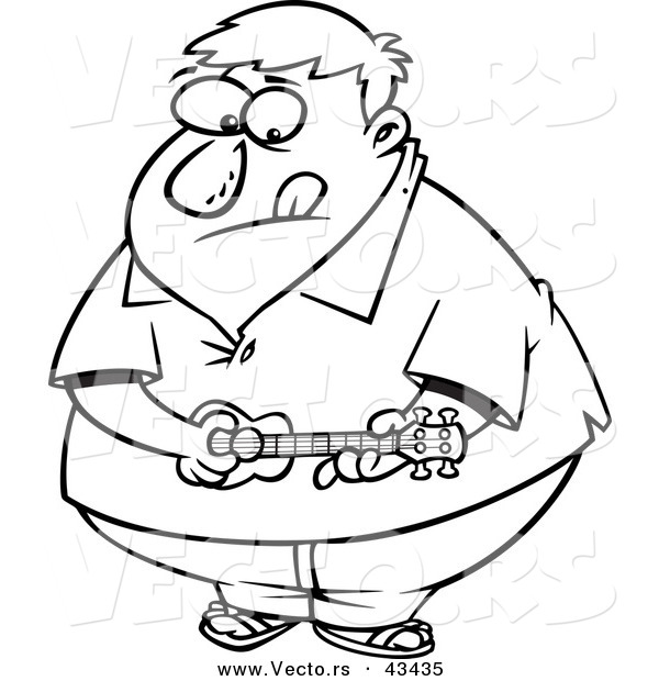 Cuisine saine !!!!!!!!!!!!! Vector-of-an-obese-cartoon-man-playing-a-ukelele-coloring-page-outline-by-toonaday-43435