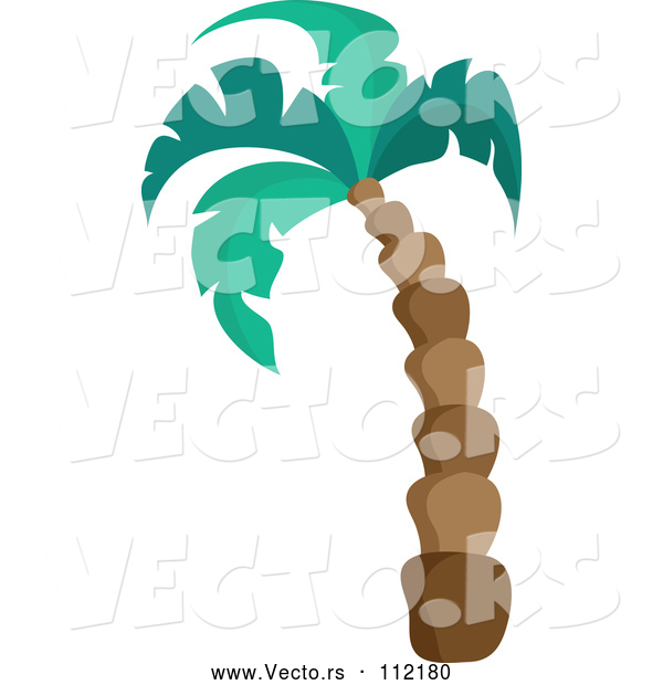 Vector of Cartoon Tall Palm Tree