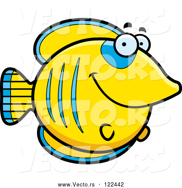 Vector of Happy Cartoon Smiling Butterflyfish