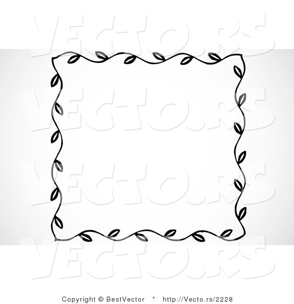 Vector Of Leaf Border Frame