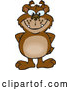 Cartoon Vector of Bear Grinning and Standing with His Hands Behind His Back by Dennis Holmes Designs