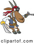 Vector of a Cartoon Pirate Goat Holding a Sword and Pistol by Toonaday