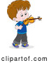 Vector of a Cartoon White Boy Violinist by Alex Bannykh