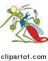 Vector of a Hungry Zikia Mosquito Looking for Blood - Cartoon Style by Toonaday