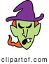Vector of a Mad Cartoon Halloween Witch by Zooco