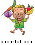 Vector of a Proud Man Carrying Nutritious Fruits and Vegetables by Zooco